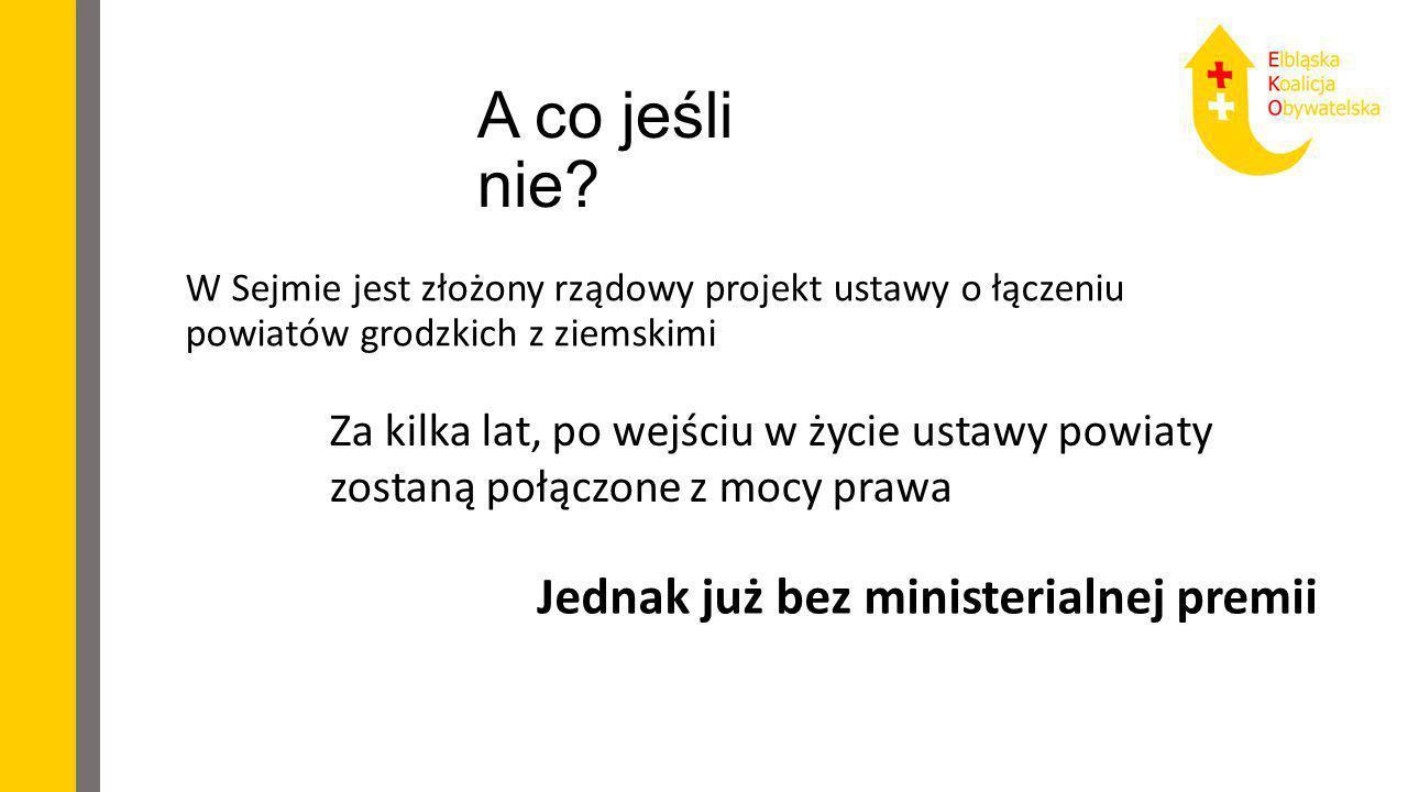 A co jeśli nie Jednak już bez ministerialnej premii