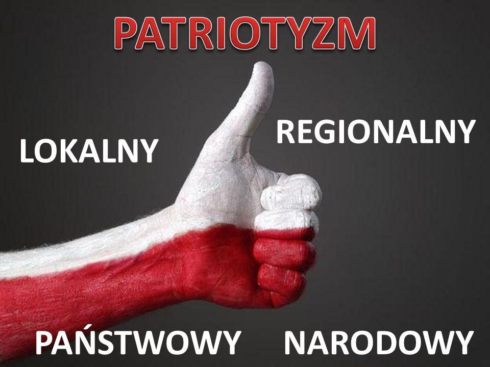 PATRIOTYZM REGIONALNY LOKALNY PAŃSTWOWY NARODOWY