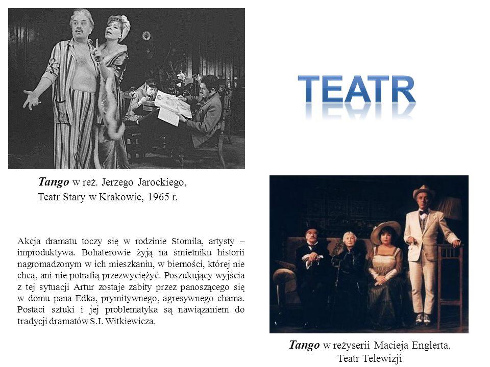 Tango w reżyserii Macieja Englerta, Teatr Telewizji