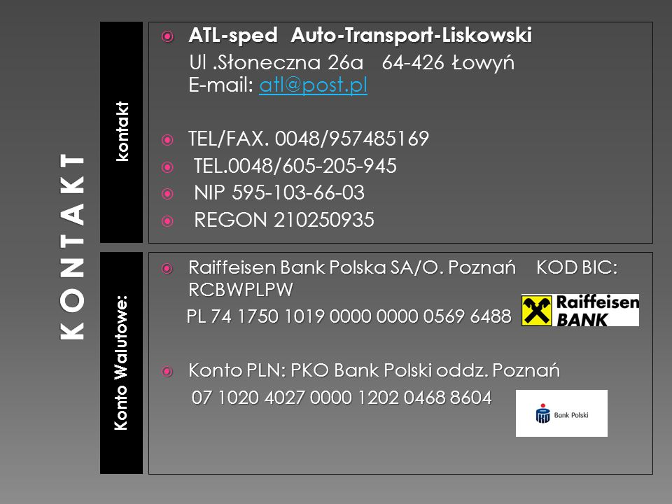 K O N T A K T ATL-sped Auto-Transport-Liskowski
