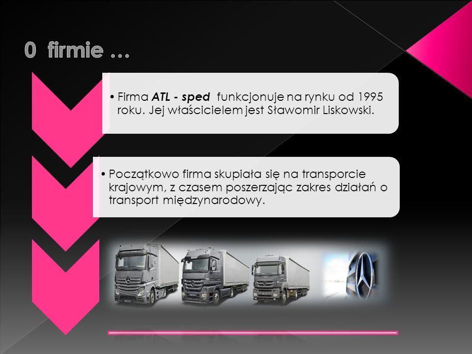 0 firmie … Firma ATL - sped funkcjonuje na rynku od 1995 roku. Jej właścicielem jest Sławomir Liskowski.