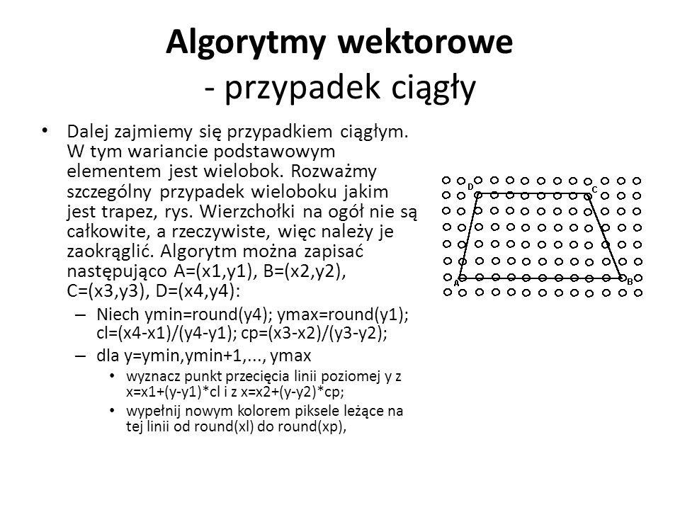 Algorytmy wektorowe - przypadek ciągły