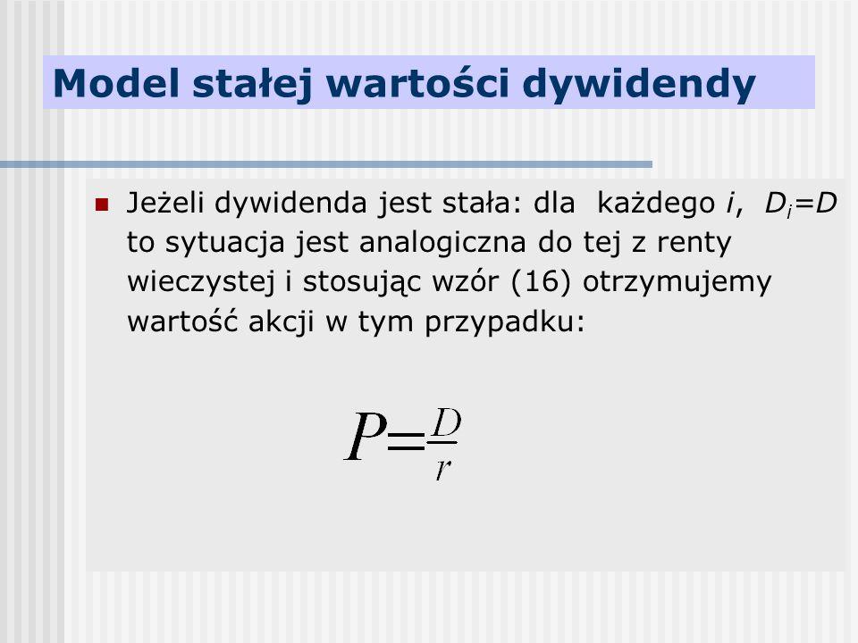 Model stałej wartości dywidendy