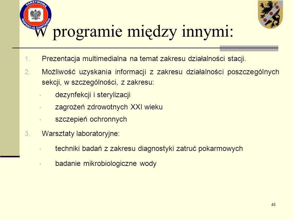 W programie między innymi: