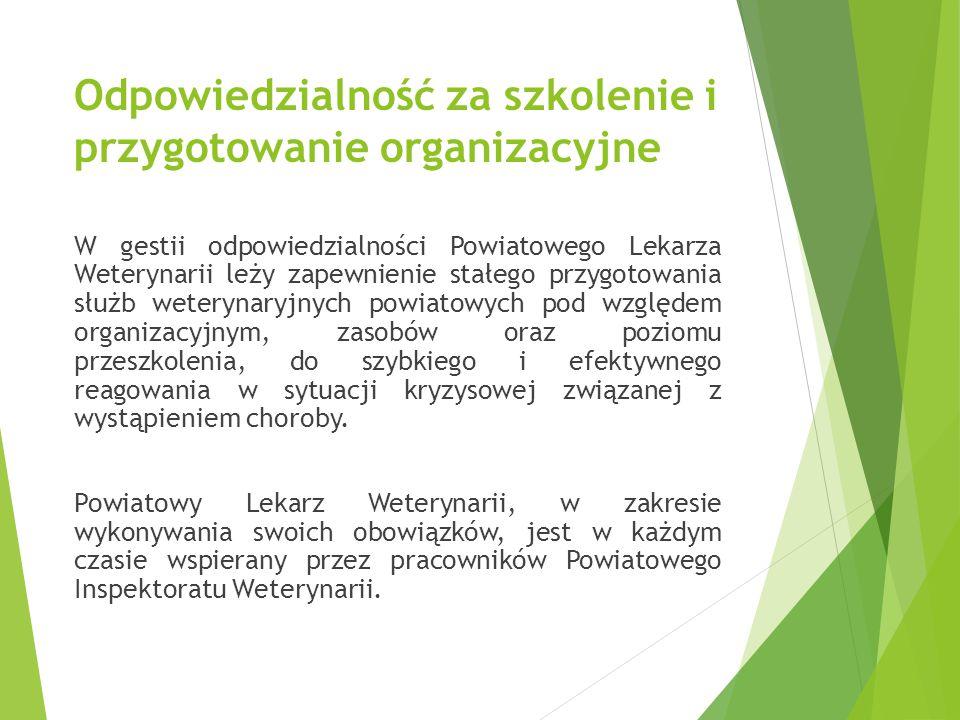 Odpowiedzialność za szkolenie i przygotowanie organizacyjne