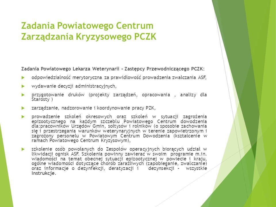 Zadania Powiatowego Centrum Zarządzania Kryzysowego PCZK