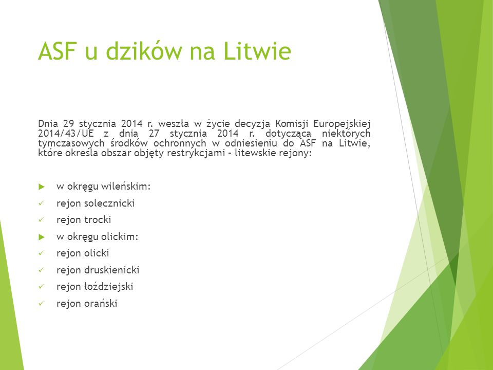 ASF u dzików na Litwie