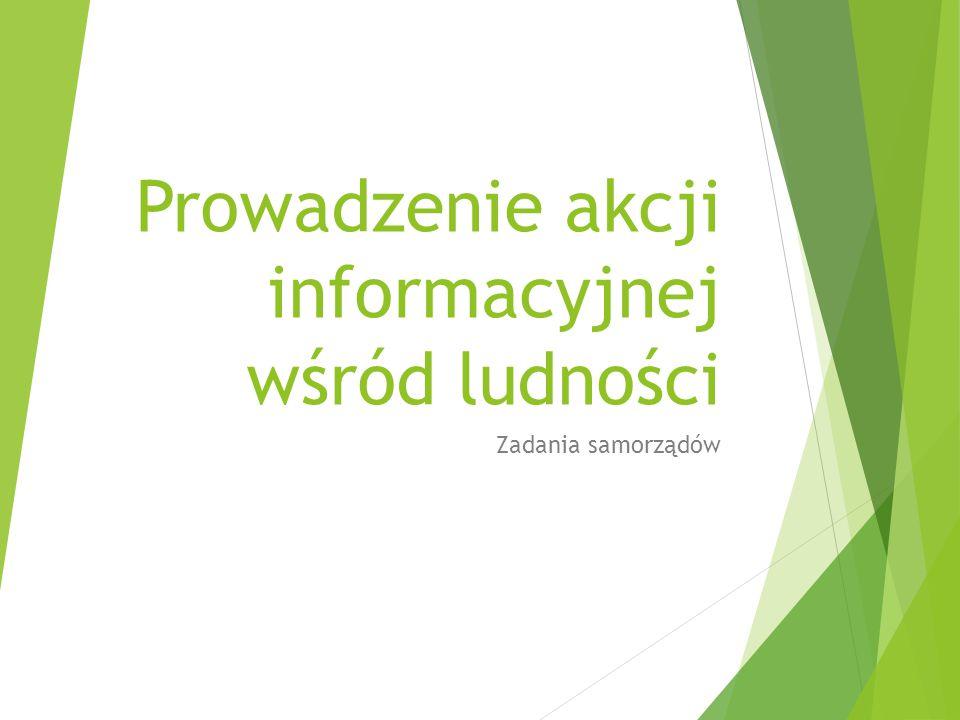 Prowadzenie akcji informacyjnej wśród ludności