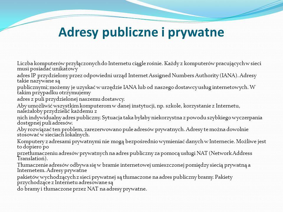 Adresy publiczne i prywatne