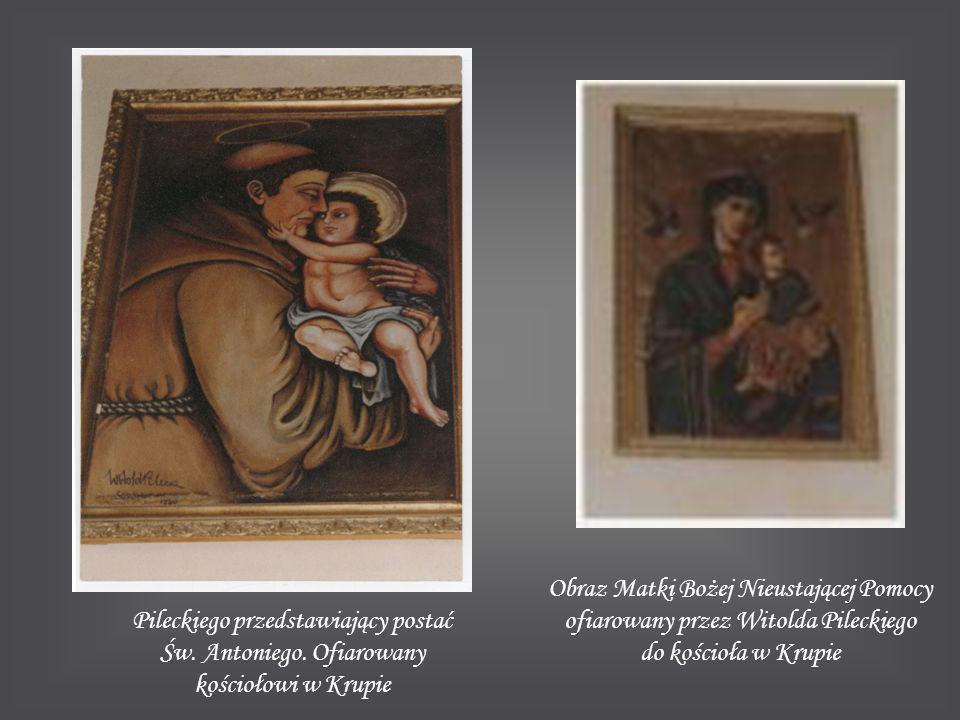 Obraz Matki Bożej Nieustającej Pomocy ofiarowany przez Witolda Pileckiego do kościoła w Krupie