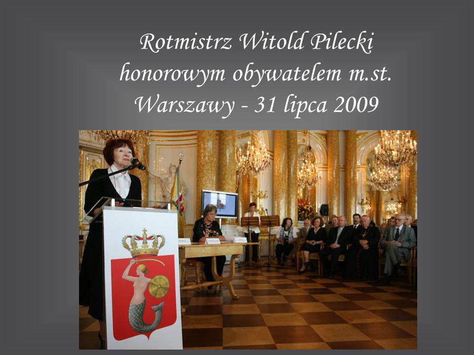 Rotmistrz Witold Pilecki honorowym obywatelem m. st