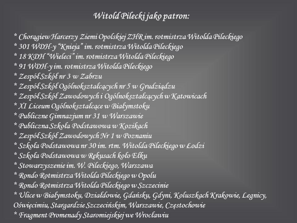 Witold Pilecki jako patron:
