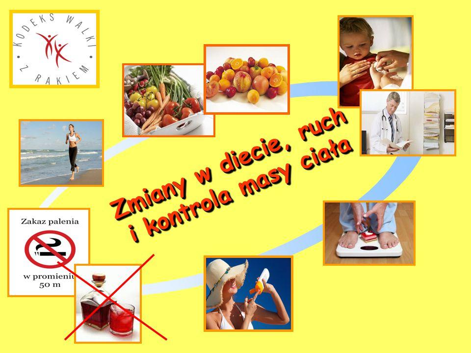 Zmiany w diecie, ruch i kontrola masy ciała