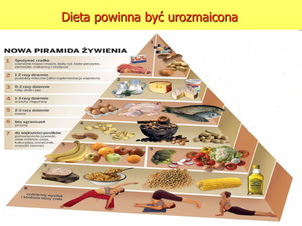 Dieta powinna być urozmaicona