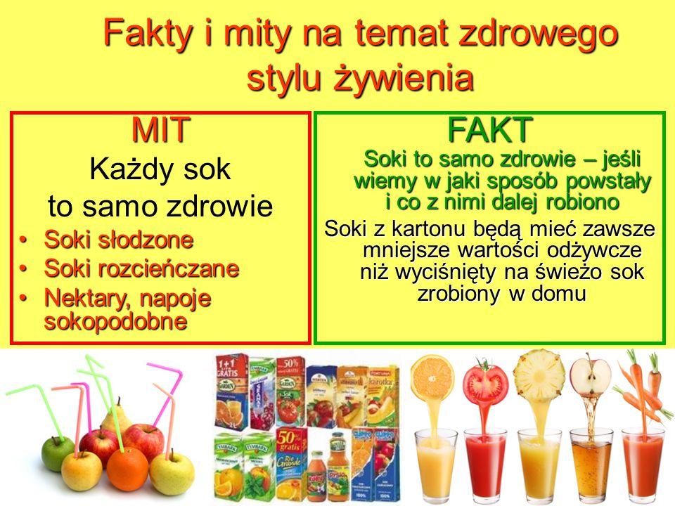 Fakty i mity na temat zdrowego stylu żywienia