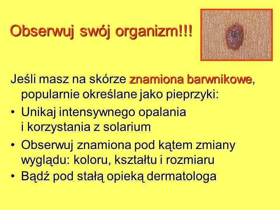Obserwuj swój organizm!!!