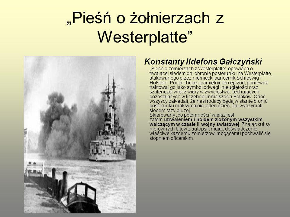 """""""Pieśń o żołnierzach z Westerplatte"""