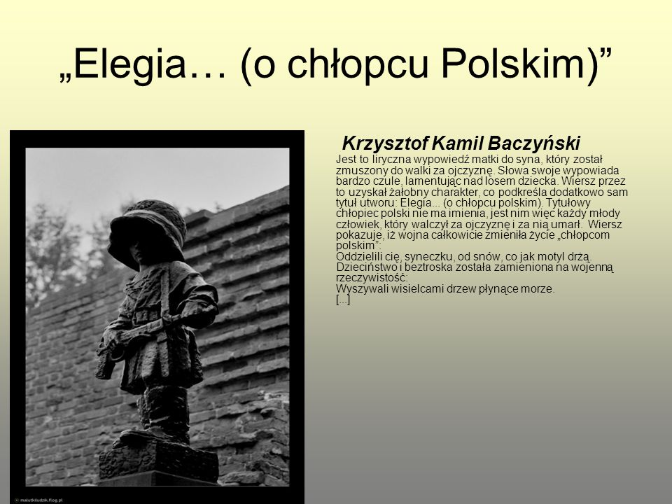 """Elegia… (o chłopcu Polskim)"