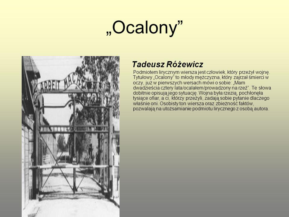 """""""Ocalony"""