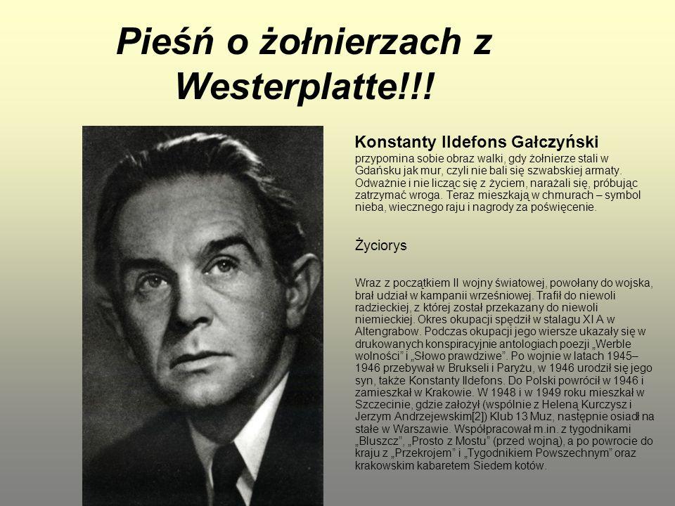 Pieśń o żołnierzach z Westerplatte!!!
