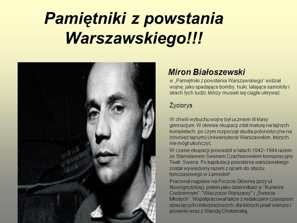 Pamiętniki z powstania Warszawskiego!!!