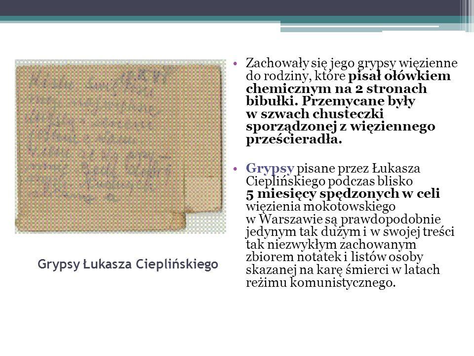 Grypsy Łukasza Cieplińskiego