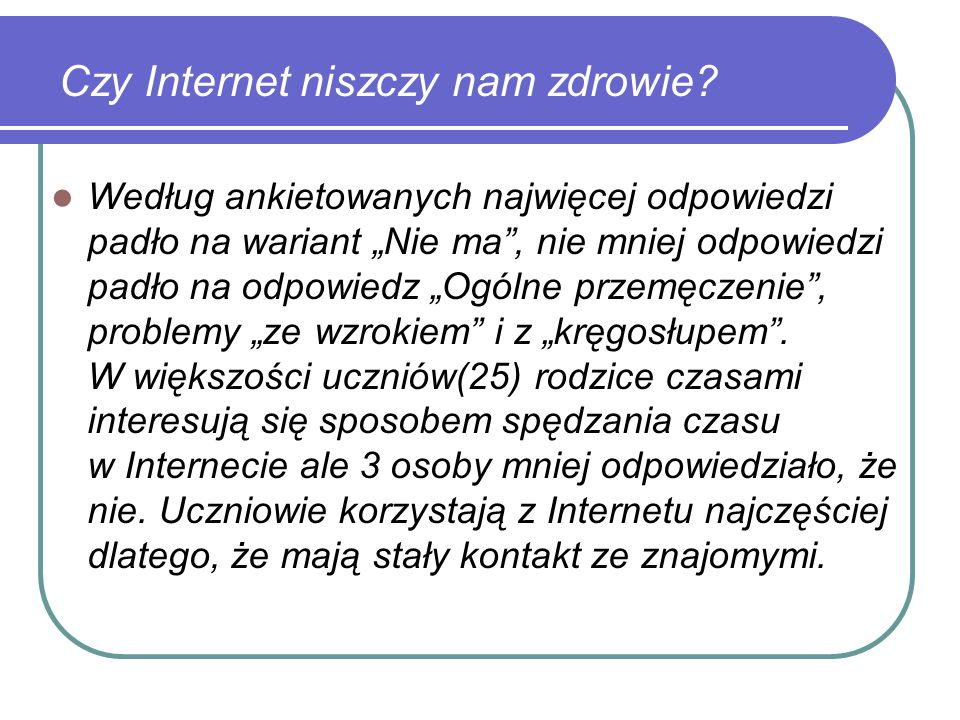 Czy Internet niszczy nam zdrowie