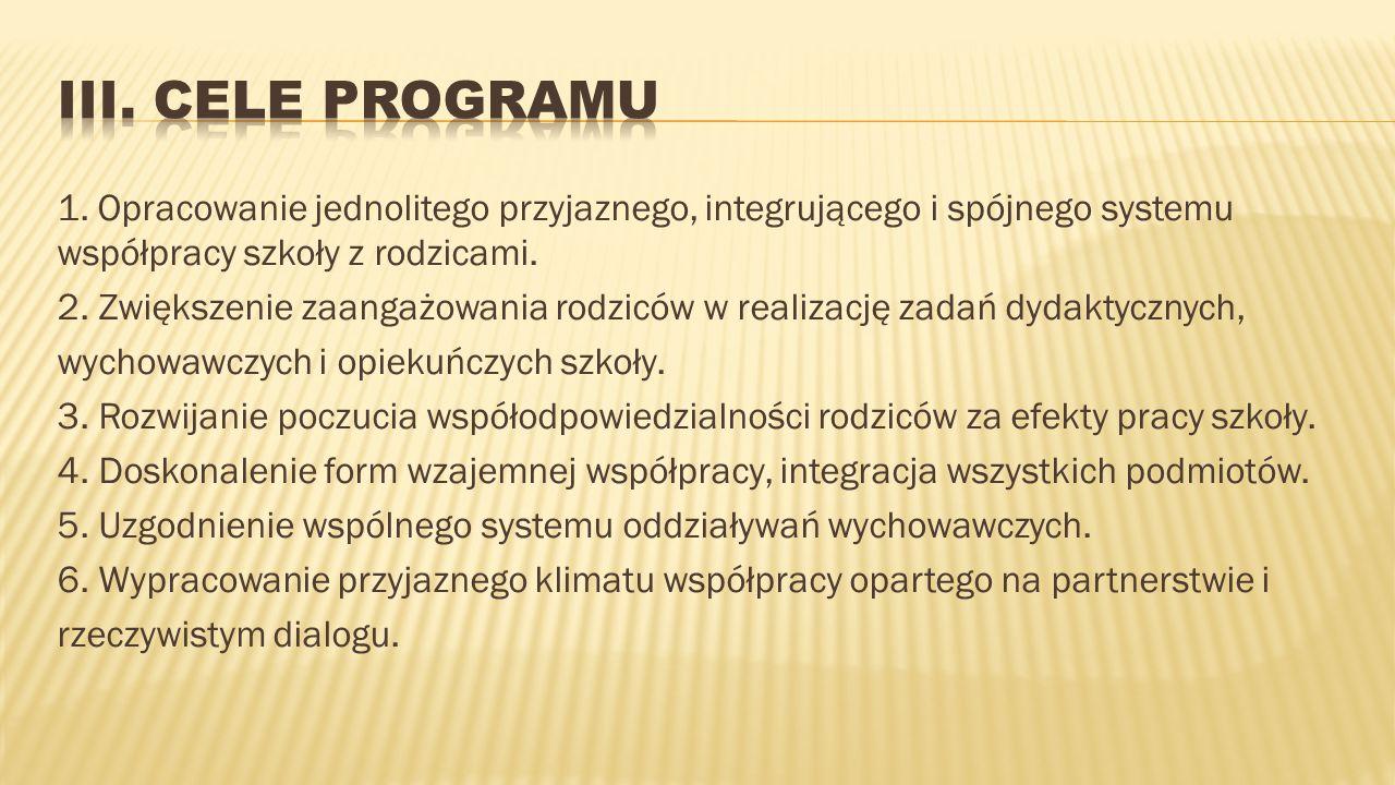 III. CELE PROGRAMU