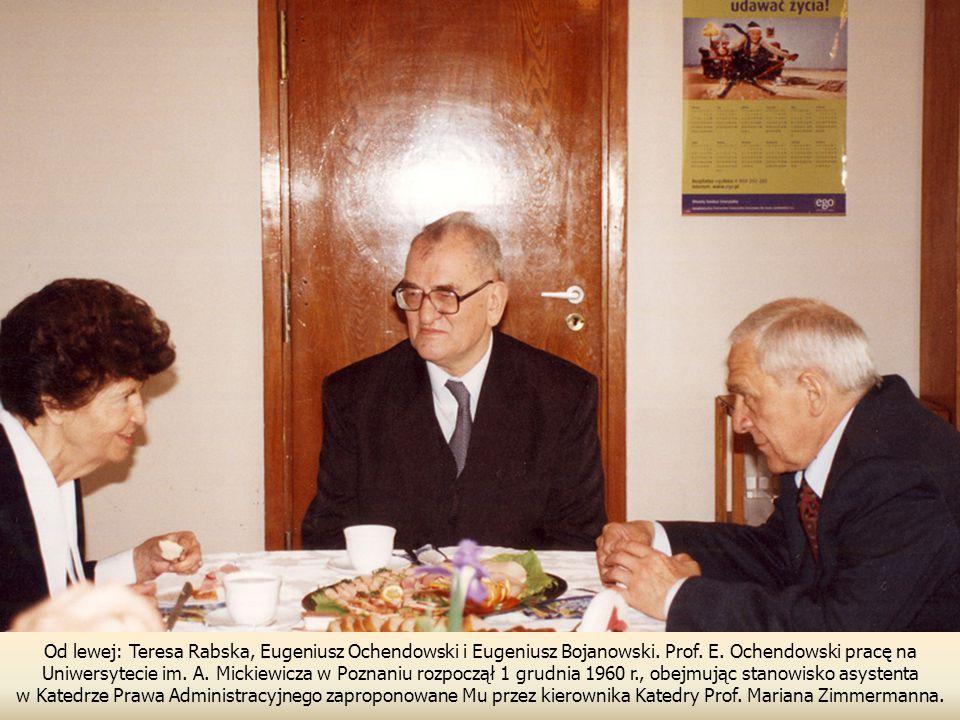Od lewej: Teresa Rabska, Eugeniusz Ochendowski i Eugeniusz Bojanowski