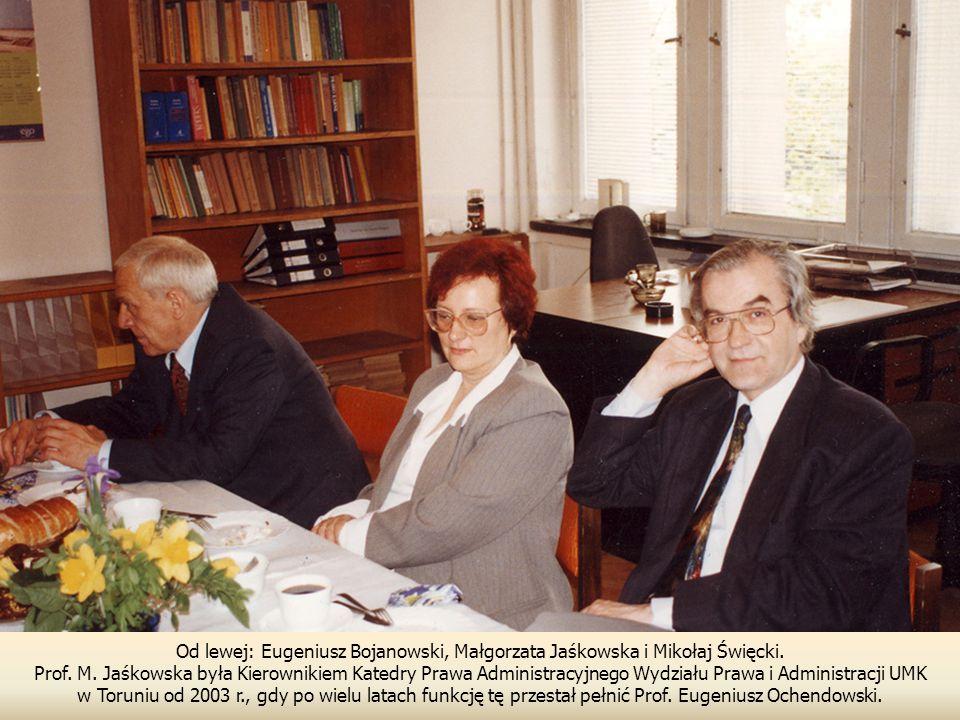 Od lewej: Eugeniusz Bojanowski, Małgorzata Jaśkowska i Mikołaj Święcki.