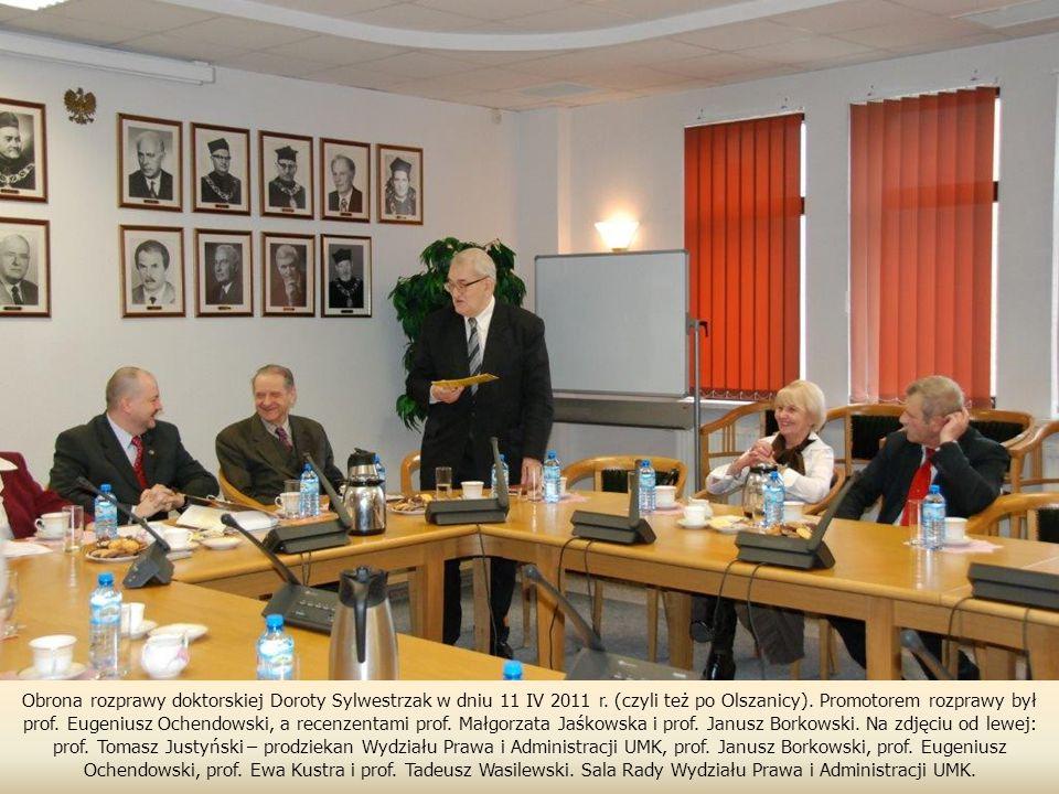 Obrona rozprawy doktorskiej Doroty Sylwestrzak w dniu 11 IV 2011 r