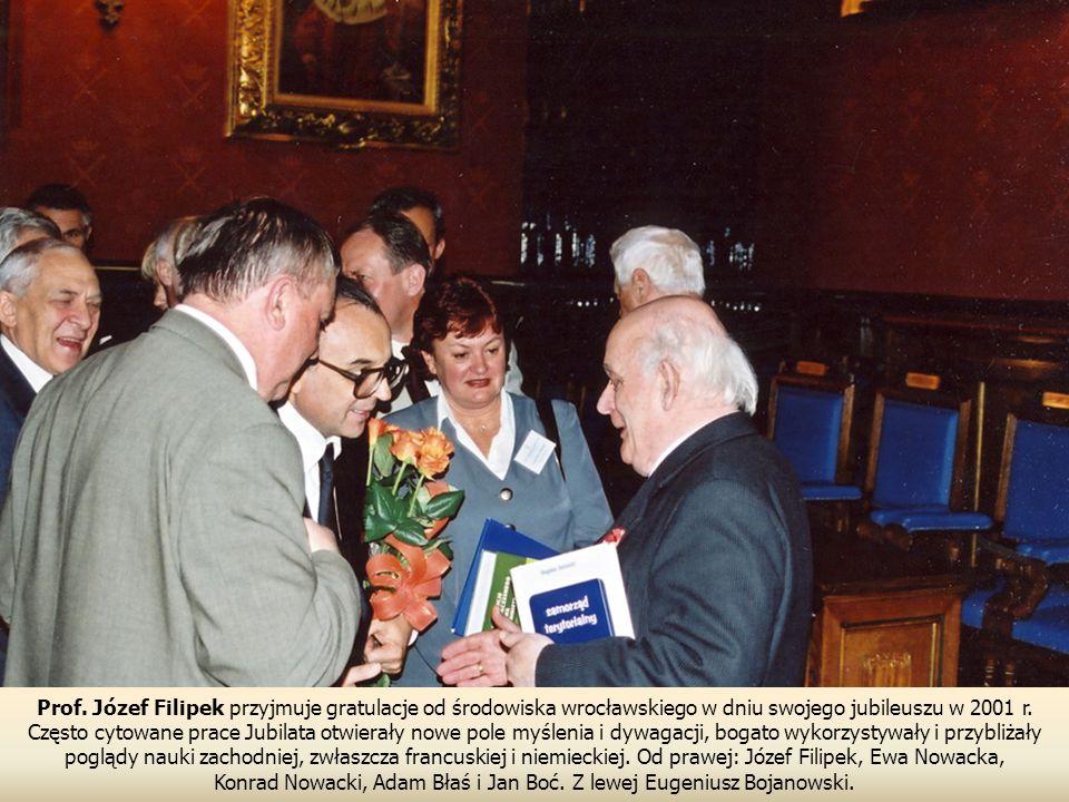 Konrad Nowacki, Adam Błaś i Jan Boć. Z lewej Eugeniusz Bojanowski.
