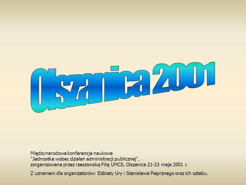 Olszanica 2001 Międzynarodowa konferencja naukowa