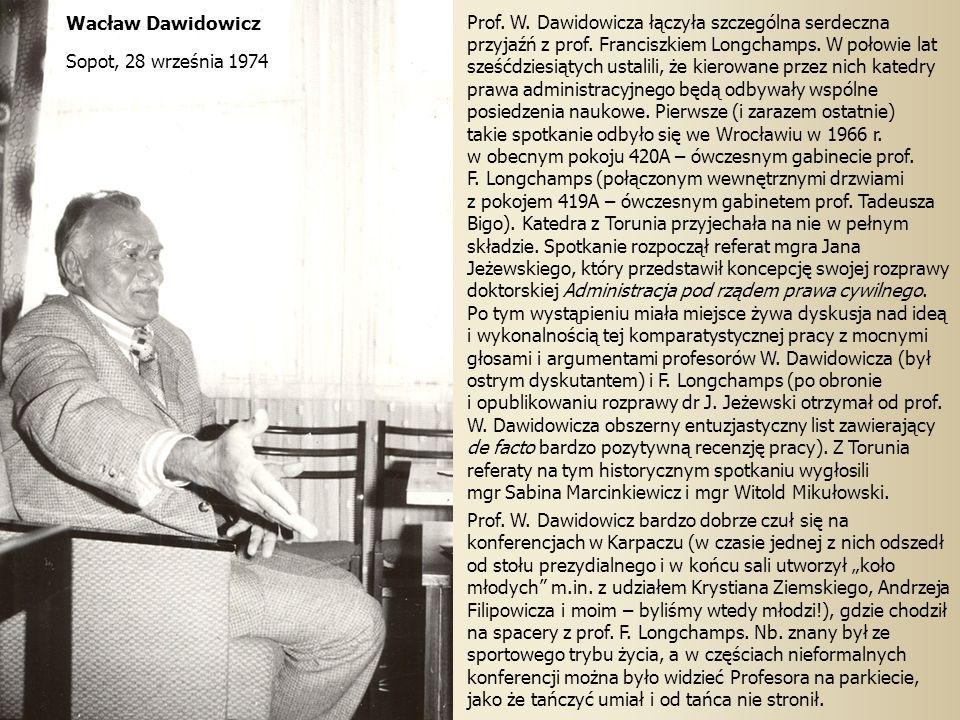 Wacław Dawidowicz Sopot, 28 września 1974.