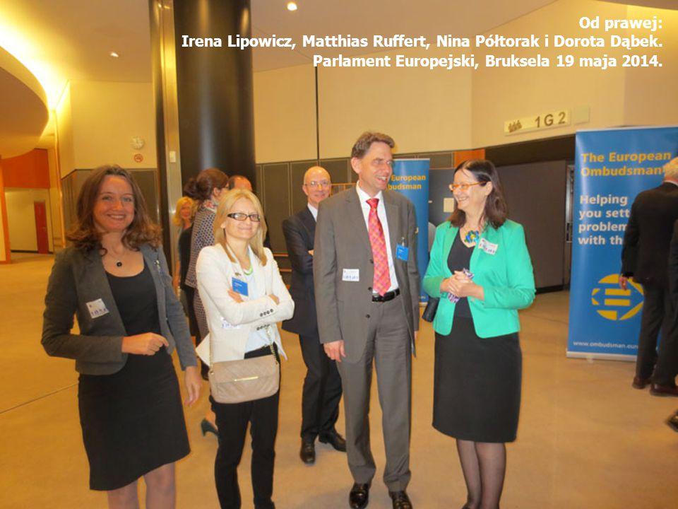 Od prawej: Irena Lipowicz, Matthias Ruffert, Nina Półtorak i Dorota Dąbek.