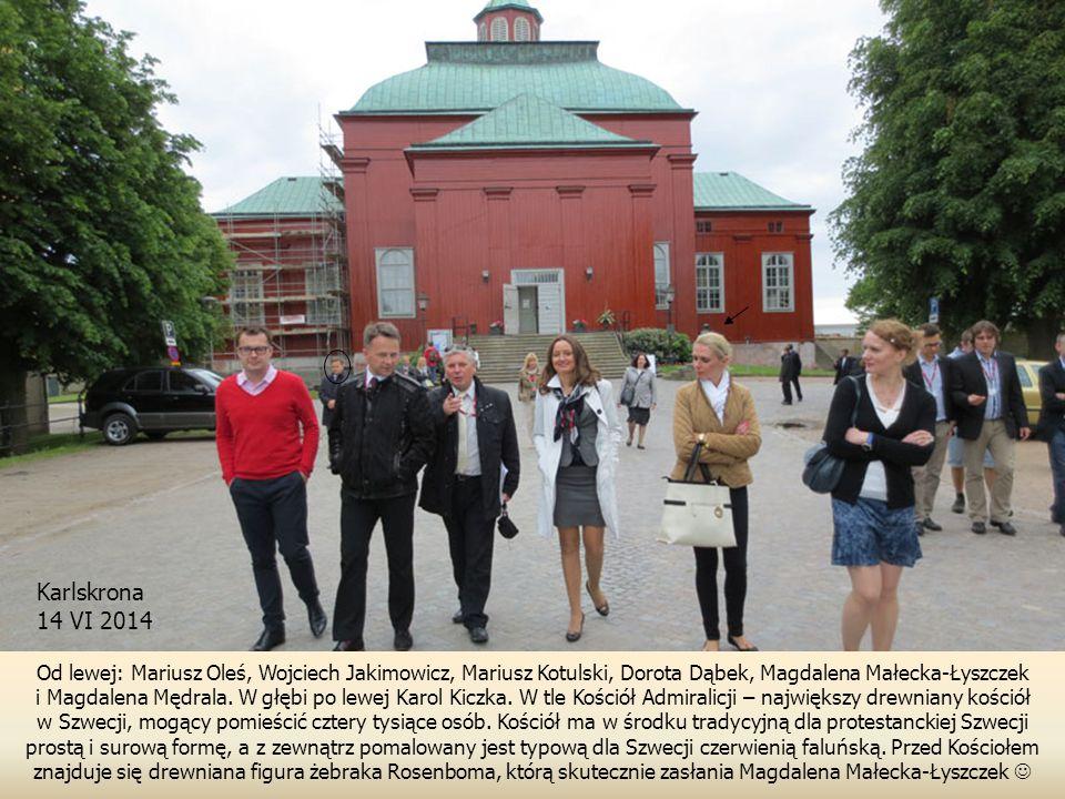 Karlskrona 14 VI 2014. Od lewej: Mariusz Oleś, Wojciech Jakimowicz, Mariusz Kotulski, Dorota Dąbek, Magdalena Małecka-Łyszczek.
