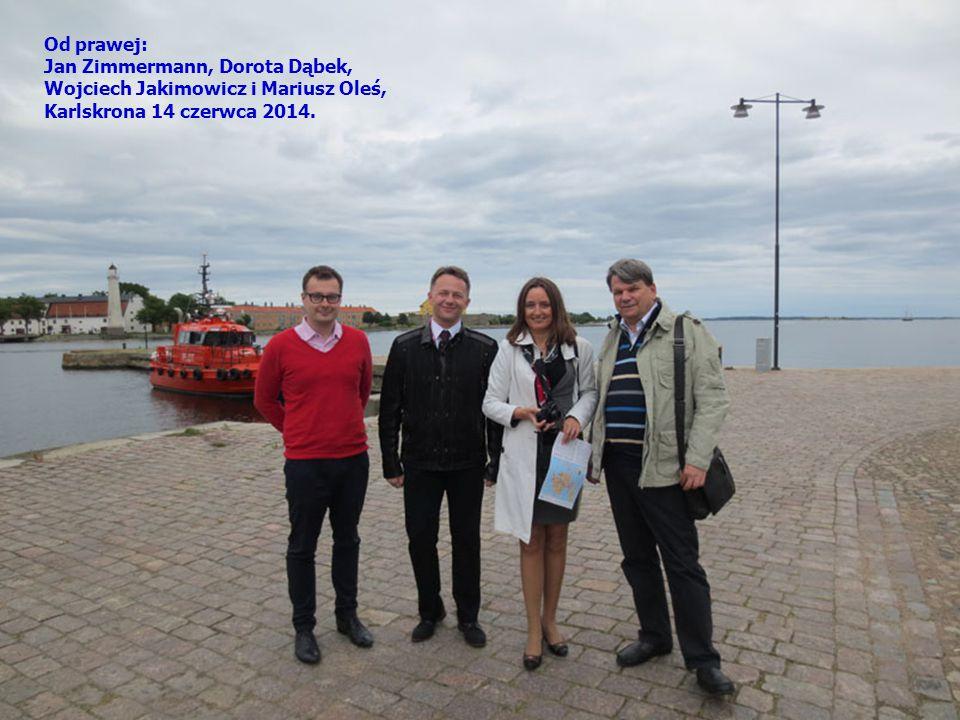 Od prawej: Jan Zimmermann, Dorota Dąbek, Wojciech Jakimowicz i Mariusz Oleś, Karlskrona 14 czerwca 2014.