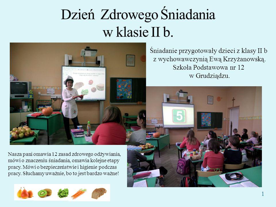 Dzień Zdrowego Śniadania w klasie II b.