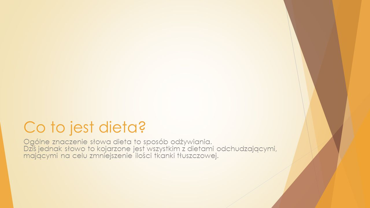 Co to jest dieta
