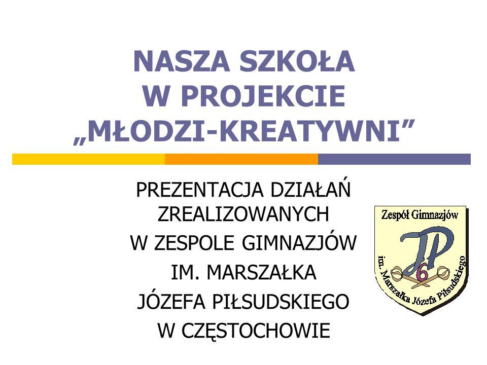 """NASZA SZKOŁA W PROJEKCIE """"MŁODZI-KREATYWNI"""