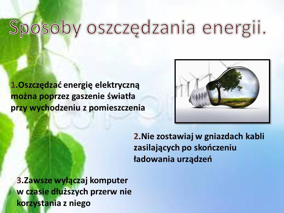Sposoby oszczędzania energii.