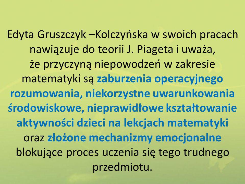 Edyta Gruszczyk –Kolczyńska w swoich pracach