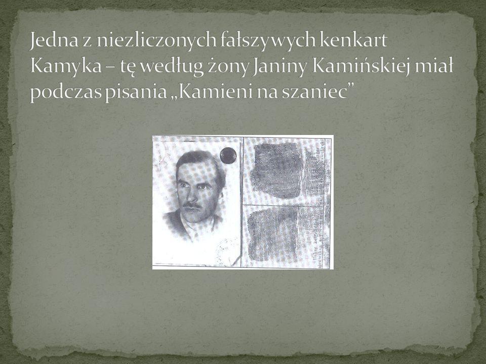 """Jedna z niezliczonych fałszywych kenkart Kamyka – tę według żony Janiny Kamińskiej miał podczas pisania """"Kamieni na szaniec"""