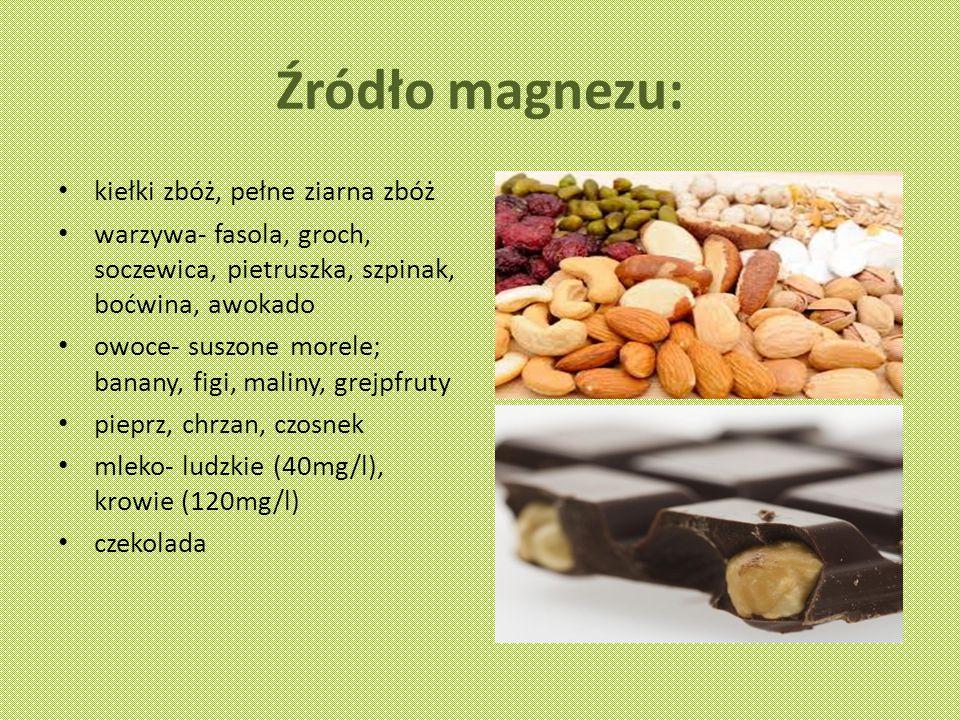Źródło magnezu: kiełki zbóż, pełne ziarna zbóż