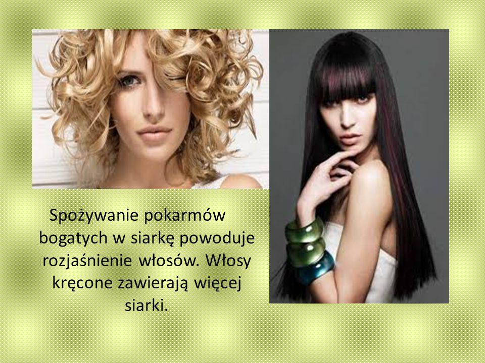 Spożywanie pokarmów bogatych w siarkę powoduje rozjaśnienie włosów