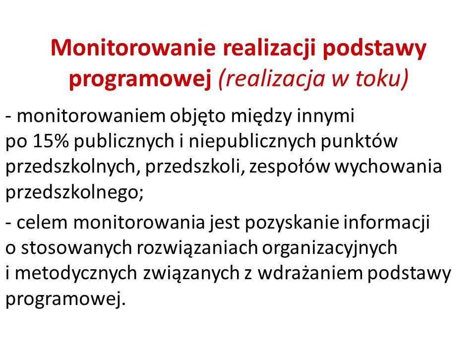 Monitorowanie realizacji podstawy programowej (realizacja w toku)