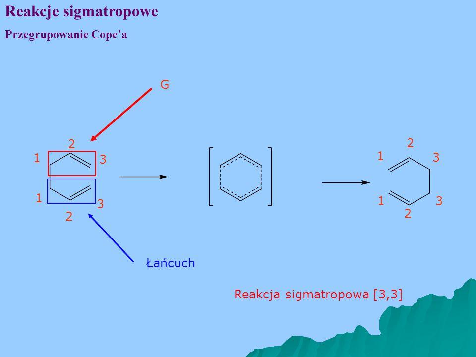 Reakcje sigmatropowe Przegrupowanie Cope'a G 1 3 2 1 3 2 Łańcuch 1 3 2