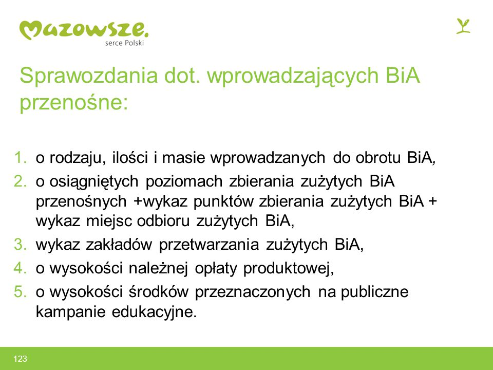 Sprawozdania dot. wprowadzających BiA przenośne: