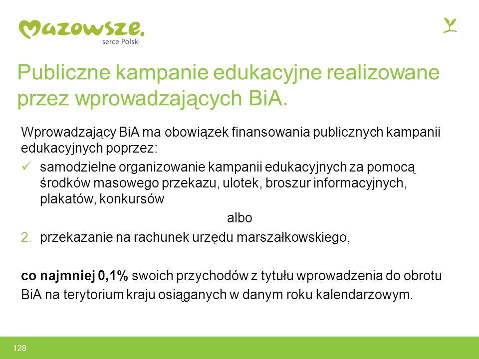 Publiczne kampanie edukacyjne realizowane przez wprowadzających BiA.