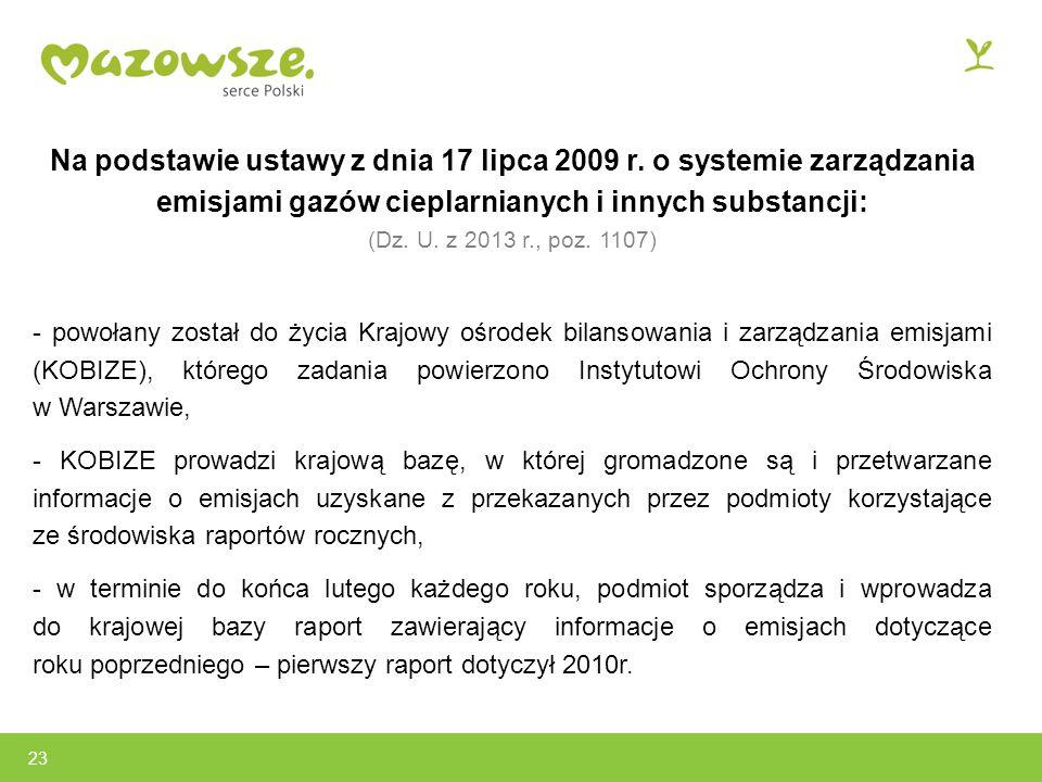 Na podstawie ustawy z dnia 17 lipca 2009 r